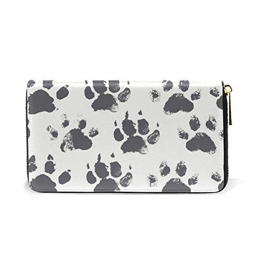 Clutch Womens Footprints Pattern 8 Purses TIZORAX Around Paws Organizer Cat Wallet Dog Zip And Handbags Rainbow FXYIxfaw