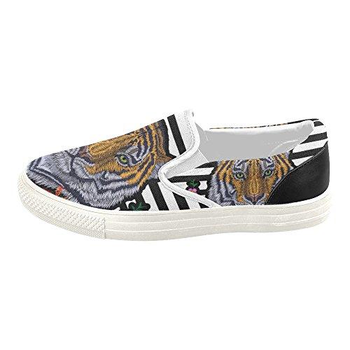 D-story Custom Sneaker Donna Slip-on Scarpe Di Tela Mullticolored22