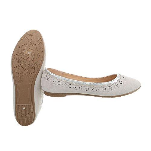N Sneakers Ital donna 78 da Design Sneaker Scarpe Clair low piatto Gris aRBvWIWqY