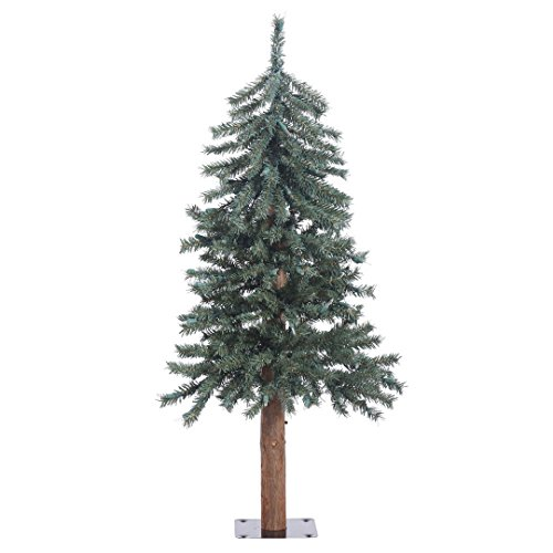 Vickerman B907330 Natural Bark Alpine Artificial Christmas Tree with 191  PVC Tips, 36