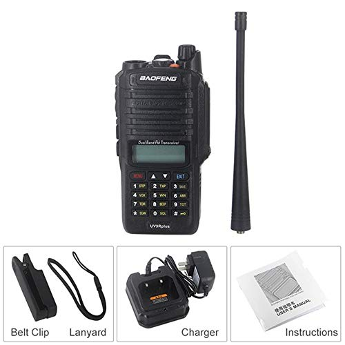 Two-Way Waikie Talkie,8W 4800mAh VHF 136-174MHz UHF 400-520MHz Dual Band Handheld Two Way Radio Waterproof FM Protable Digital Transceiver 1PC