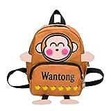 Toddler Cartoon Monkey Backpack, Vertily Cute Preschool Animal Kindergarten Bags (Brown)