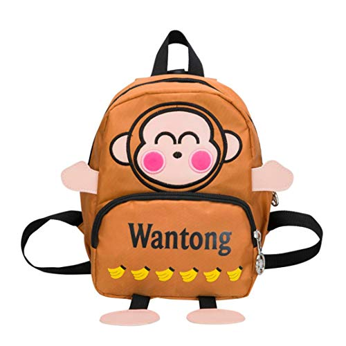 Toddler Cartoon Monkey Backpack, Vertily Cute Preschool Animal Kindergarten Bags (Brown) by Vertily Bag