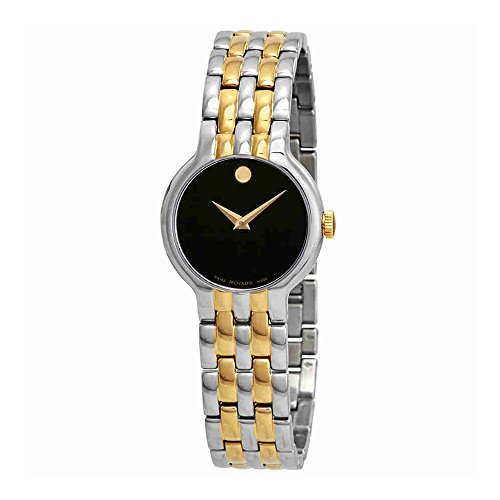 68f7f966d38 Movado Veturi Black Dial Two-Tone Ladies Watch 0606933