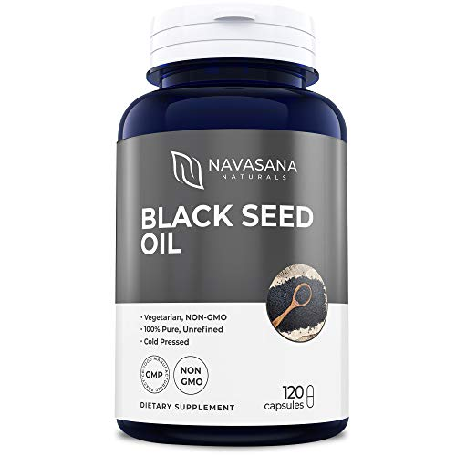 Pure Black Seed Oil - 120 Softgels (Non-GMO & Vegetarian) Capsules Made from Cold Pressed Nigella Sativa for The Best Black Cumin Seed Oil: Made in The USA 1000mg Per Serving