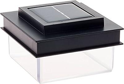 GreenLighting Translucent Solar Powered Post Cap Light For 4x4 Wood Posts