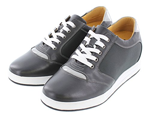 Campus Height TOTO Lace Grey Increasing Taller Inches 3 up Shoes A5327 Shoes 2 Elevator HrXqH67