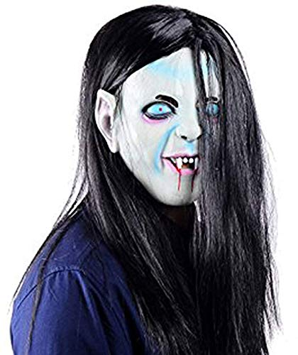 (Ohuhu Halloween Costume, Ghost Mask Scream Costume Party Mask, Zombie Emulsion Skin with Hair, Call of Duty Ghosts)
