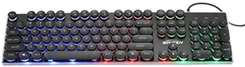 LAY PC USB Teclado Gaming Keyboard Redondo Retro Que Brillan ...