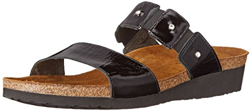 NAOT Women Ashley Wedge Sandal Black Patent