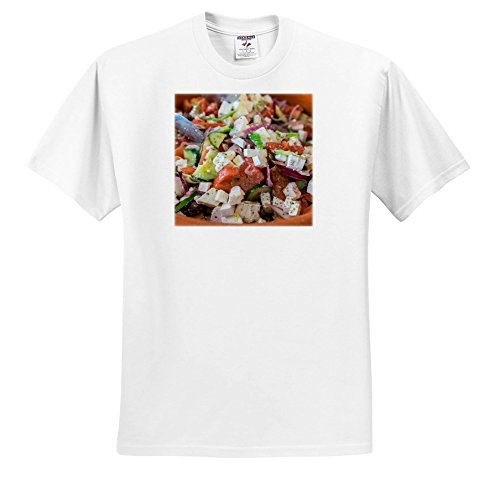 3dRose Danita Delimont - Food - Greek Salad, Tourist Club, Olympia, Greece, Europe - T-Shirts - Toddler T-Shirt (3T) (TS_277445_16)