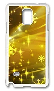Adorable Colorful yellow Art Hard Case Protective Shell Cell Phone Samsung Galaxy Note4 - PC White