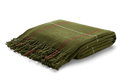 - Arus Highlands Collection Tartan Plaid Design Throw Blanket Olive 60