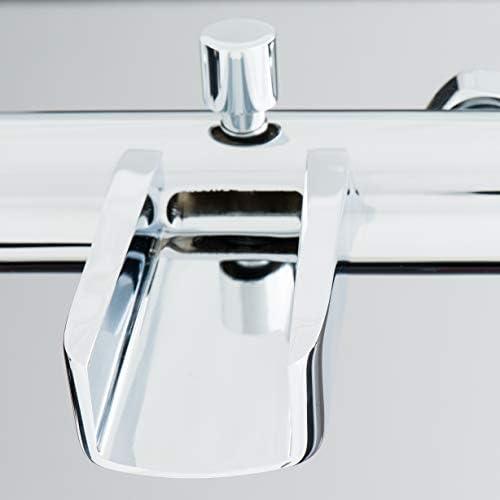 Chrom 26130 SCH/ÜTTE Badewannenarmatur Niagara Wannenarmatur mit geringer Sto/ßgefahr durch kurzen /Überhang Mischbatterie f/ür die Badewanne mit Wasserfall