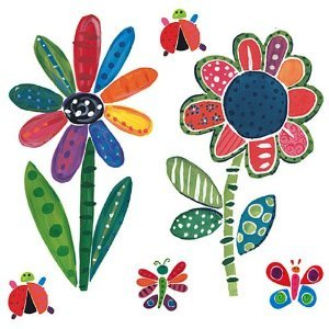 - Wallies 13401 Jenny's Flowers and Bugs Wallpaper Mural