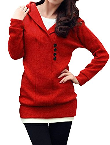 Allegra Sleeves Pullover Buttons Sweater