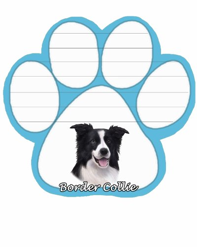 Border Collie Note (E&S Pets NP-5 Dog Notepad)