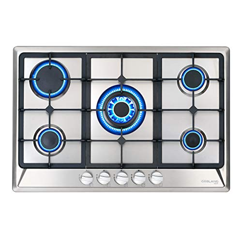 CSA Certified Italy Sabaf 5 Burner Gas Cooktops Thermocouple Safety Protection 30 Inch Built-in Gas Cooktop 30 Stainless Steel Gas Hob LPG /& Natural Gas Stove Top Gas Cooktop