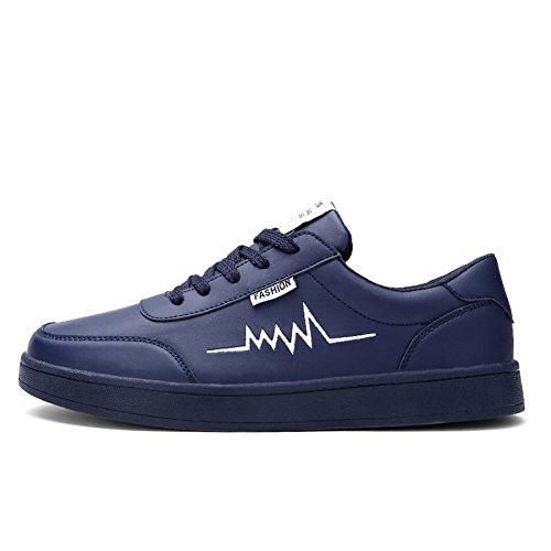 Führershow Herrenmode Breathable Skate Schuh Casual Sport Lace Up Sneaker Navy blau