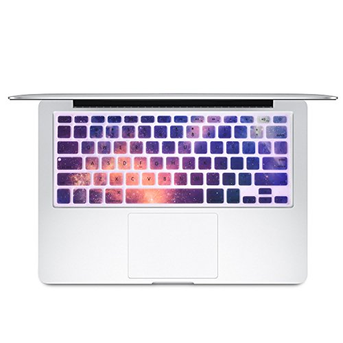 Dogxiong Galaxy Star Night Pattern Texture Silicone Keyboard Cover Ultra Thin Keyboard Skin for MacBook Air 13 [No-Touch ID], Pro Retina 13 15 Inch [2015 Year or Older Version]