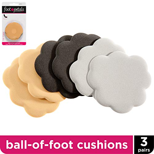 - Foot Petals Tip Toes, 3-Pack - Cushioned Ball of Foot Inserts for High Heels and Other Uncomfortable Shoes