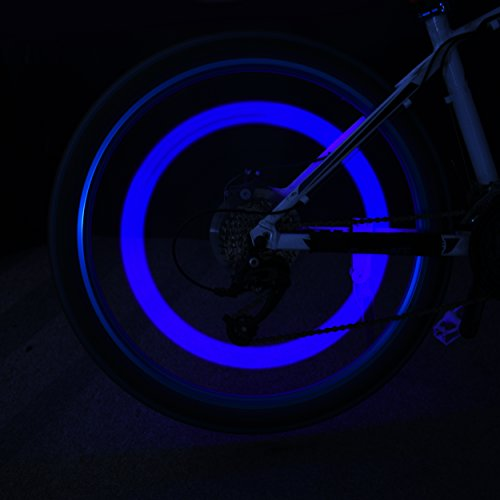 Nogis 4pcs Bike Spoke Light,Waterproof Bike Wheel Lights Tyre Wire light With 3 LED Flash Modes Neon Lamps Used for Safe and Warning