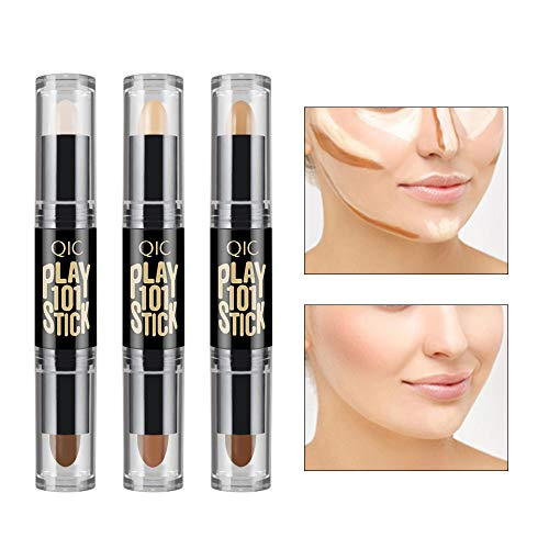 Ownest 6 Colour Contour Stick, Concealer Contour, Highlighters Stick, Face Highlighters,Double-end Make up Concealer Contouring Sticks Cream Set Bronzer and Highlighter Stick Set