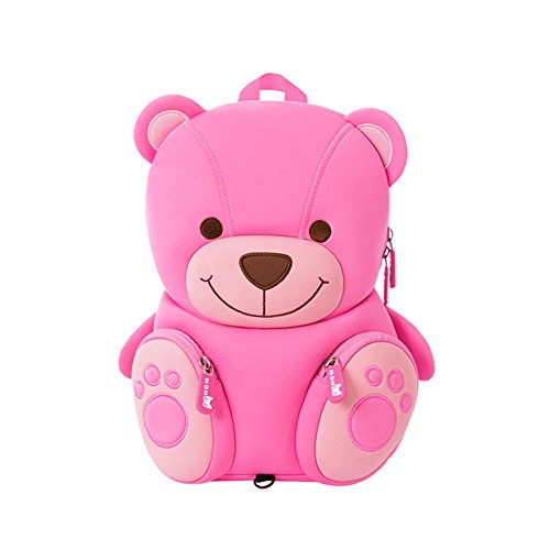 LYCSIX66 Kids Toddler Backpack with Safety Harness Leash Anti-Lost Preschool Bag for Boy Girl Ages 2-5 (Teddy Bear) (Teddy Harness Bear)