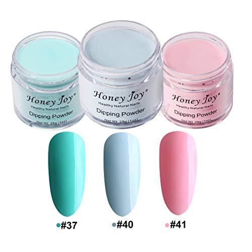 3pcs 28g/Box Multi Colorful Dipping Powder Without Lamp Cure Nails Dip Powder Summer Gel Nail Color Powder Natural Dry (37-40-41)