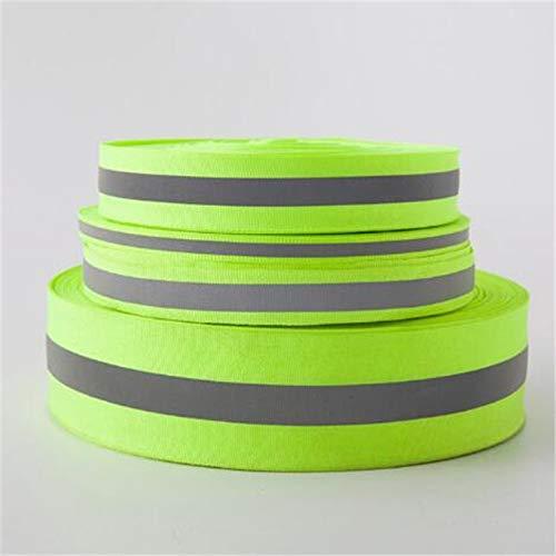 Shoppy Star 10 Meter Luminous Ribbon lace Reflective Webbing Ribbon Weaving Piping Taps Fabric Tape Warning with Bright Reflective Film: Width 2cm ()