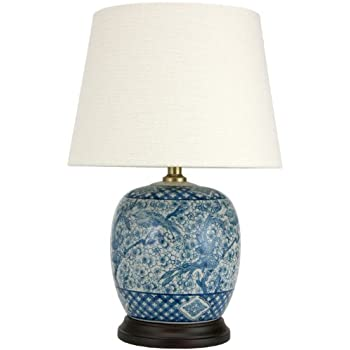 blue and white porcelain temple jar table lamp. Black Bedroom Furniture Sets. Home Design Ideas
