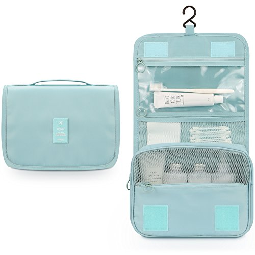 Bath Functional 3 Light - Toiletry Bag,Mossio Lightweight Canvas Bathroom Organizer Travel Essentials Handbag Sky Blue