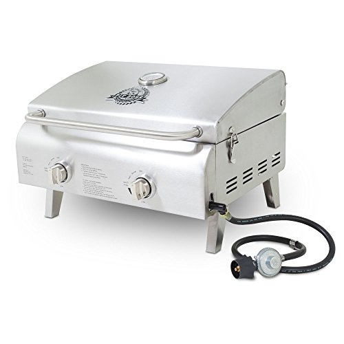 Pit Boss Stainless Steel Portable LP 2-Burner Gas Grill