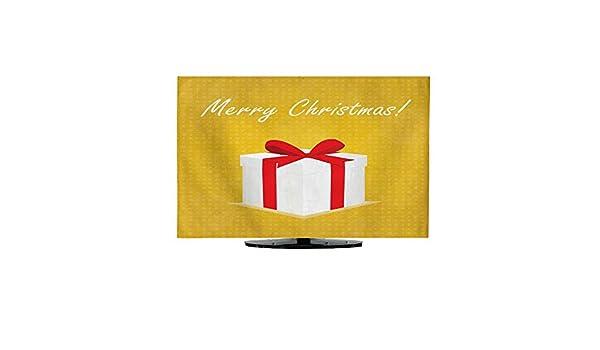 TV Dustproof Cover ClopMerry - Tarjeta de felicitación de Navidad con Caja de Regalo con Fondo Dorado de Bolas 30/32: Amazon.es: Electrónica