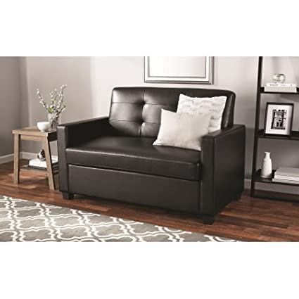 Amazon.com: Mainstays Sleeper Sofa with CertiPUR-US certified Memory ...