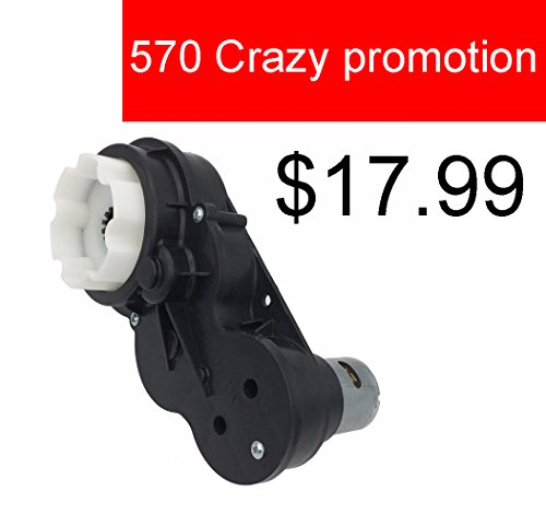 570 35000RPM Gearbox with 65W High Torque 12V DC Motor for Kids Ride on Car SUV Parts, Powered Motor with Gear Box,High Speed RS570 Engine Drive Motor Match Children's Electric Ride on Toys Accessory
