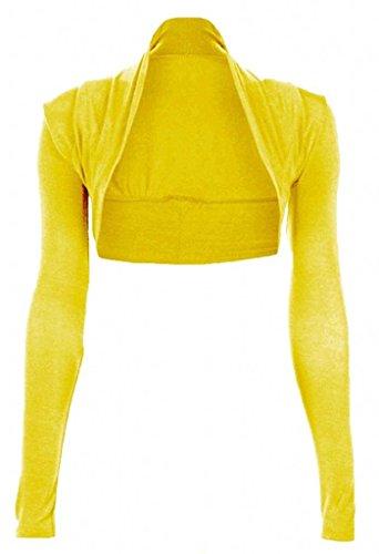 Funky Boutique Womens Long Sleeved Bolero Shrug Size 8-22 (8-10 SM, Yellow)