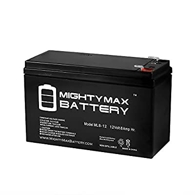 12V 8Ah SLA Battery Replaces Powerware 9120 700-3000VA UPS - Mighty Max Battery brand product