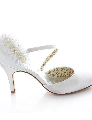 Redonda Tacones 3 3 Punta ZQ Noche Zapatos de 3in boda ivory Tacones Vestido Marfil 3 4in Fiesta y 4in ivory Mujer 3in Boda 3 aqxYZwZX