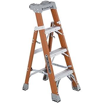 Amazon Com Louisville Ladder 4 Foot Fiberglass Step Shelf
