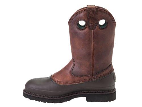 Georgia Mens Pull-On Mud Dog ST Comfort Core Work Boot Brown 2KkaJS