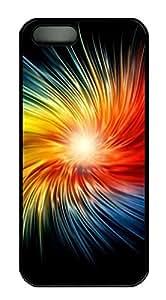 iPhone 5 5S Case Dazzling colors PC Custom iPhone 5 5S Case Cover Black