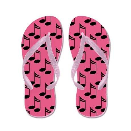 Lplpol Cute Note Flip Flops Adults XL Pink Flip Flops Belt