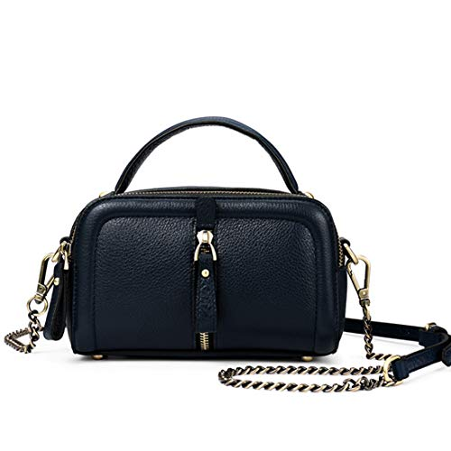 Blue Main Cuir Sac Magai À Véritable En Blue Lady Femme Crossbody Purse color Navy wqZ71H7WE