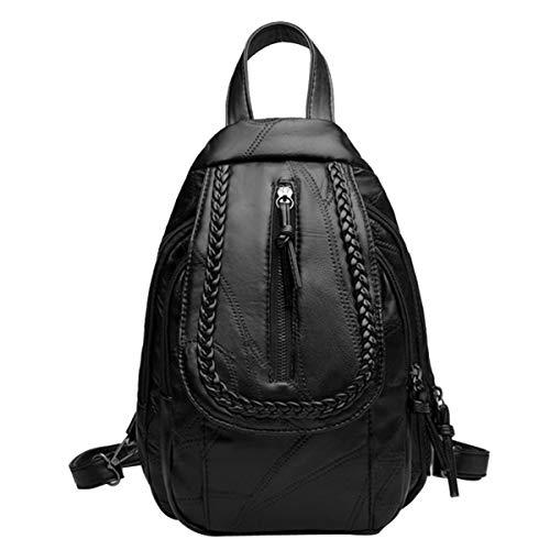 Business Laptop Backpack Notebook Rucksack Women's Shoulder Bag Casual Backpack Simple Chest Bag (Color : Black, Size : One Size)
