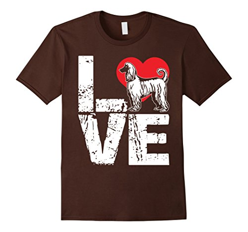 Afghan Hound Mens T-shirt (Mens Afghan Hound Shirt - Love Afghan Hound Dog T shirt 3XL Brown)
