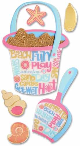 Jolee's Boutique Jumbo Dimensional Stickers-a Day At The Beach/shovel & Bucket -