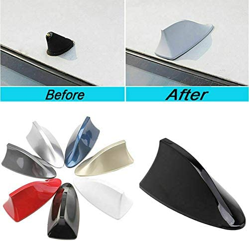 White Front Roof Shark Fin Style Antenna Aerial Fit BMW Car-styling for Car Roof