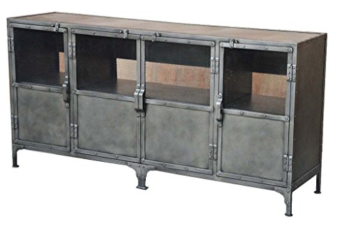 Moti Furniture Sheridan 63018003 4 Door Metal Media Console
