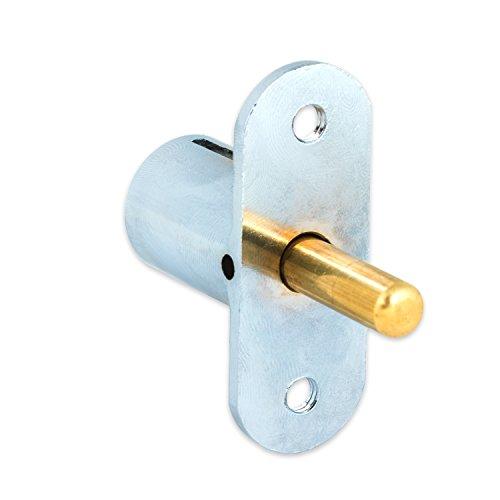 FJM Security 2612L-KA Push Lock with Chrome Finish, Keyed Alike Photo #2